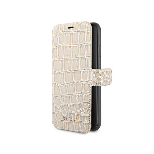 Guess Guess Crocodile Book Case - Apple iPhone XR - Beige