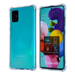 Samsung Galaxy A51 Transparant Backcover hoesje - Anti schok