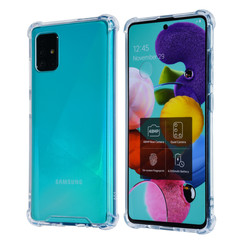Samsung Galaxy A71 Transparant Backcover hoesje - Anti schok