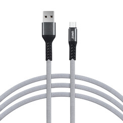 Micro-USB-Kabel 200cm schnelle Datenübertragung Ladegerät Gray - Nylon