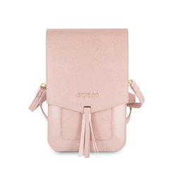 Guess Collection roze telefoontasje met ruimte voor pasjes en briefgeld - tot 6.5 inch smartphone