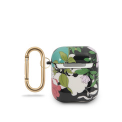 Guess Brown AirPods Case - Flower Pattern