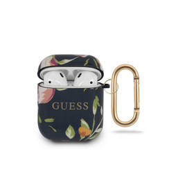 Guess Blue AirPods Case - Flower Pattern