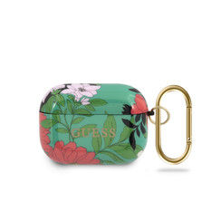 Guess Green AirPods Pro Case - Flower Pattern