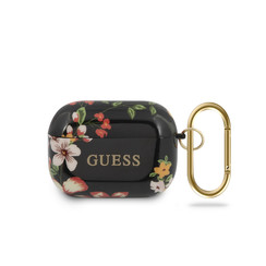 Guess Black AirPods Pro Case - Flower Pattern