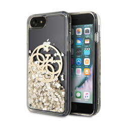 Guess Apple iPhone SE2 (2020) & iPhone 8 Gold Back-Cover hul - Flüssiges Glitter