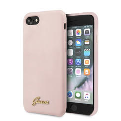 Guess Apple iPhone SE2 (2020) & iPhone 8 Pink Back cover case - Liquid Retro Logo