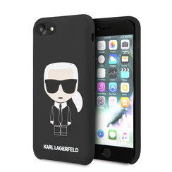 Karl Lagerfeld Apple iPhone SE2 (2020) & iPhone 8 zwart Backcover hoesje - Full Body Iconic
