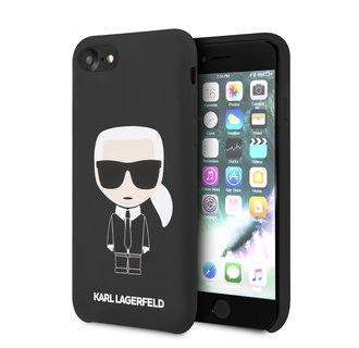 Karl Lagerfeld Apple iPhone SE2 (2020) & iPhone 8 zwart Backcover hoesje - Full Body Iconic
