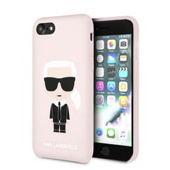 Karl Lagerfeld Apple iPhone SE2 (2020) & iPhone 8 Roze Backcover hoesje - Full Body Iconic