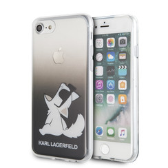 Karl Lagerfeld Apple iPhone SE2 (2020) & iPhone 8 zwart Backcover hoesje - Funn Bril Choupette
