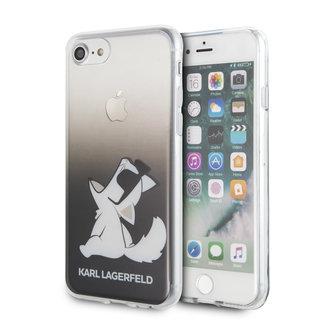 Karl Lagerfeld Apple iPhone SE2 (2020) & iPhone 8 zwart Backcover hoesje - Funn Bril Choupette