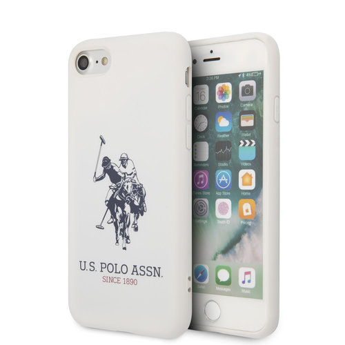 US Polo US Polo Apple iPhone SE2 (2020) & iPhone 8 Weiß Back-Cover hul - Großes Pferd