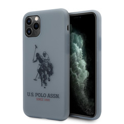 US Polo Apple iPhone 11 Pro Blauw Backcover hoesje - Groot paard