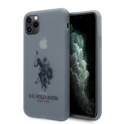 US Polo Apple iPhone 11 Pro Max Blauw Backcover hoesje - Groot paard