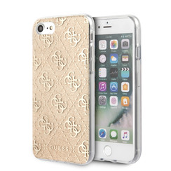 Guess Apple iPhone SE2 (2020) & iPhone 8 Goud Backcover hoesje - solid Glitter