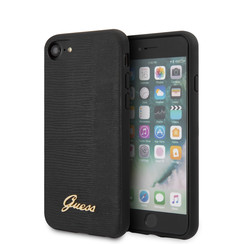 Guess Apple iPhone SE2 (2020) & iPhone 8 Schwarz Back-Cover hul - Lizard drucken