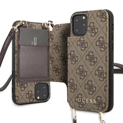 Guess Apple iPhone 11 Pro Bruin Backcover hoesje - 4G Crossbody
