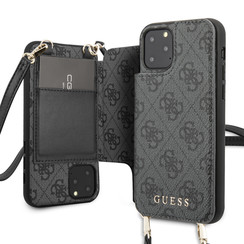 Guess Apple iPhone 11 Pro Grey Back cover case - 4G Crossbody