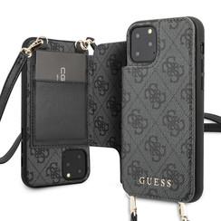 Guess Apple iPhone 11 Pro Grijs Backcover hoesje - 4G Crossbody
