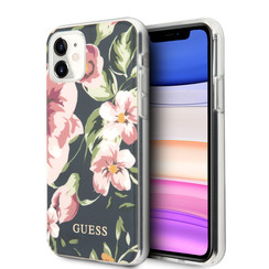 Guess Apple iPhone 11 Navy Back cover case - Floral Pattern
