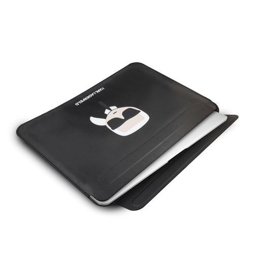 Karl Lagerfeld Karl Lagerfeld 13 inch universele laptop sleeve - zwart Ikonik Karl