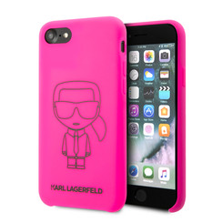 Karl Lagerfeld Apple iPhone SE2 (2020) & iPhone 8 Noir Back cover coque - Neon liquide Outline