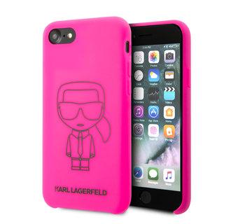 Karl Lagerfeld Apple iPhone SE2 (2020) & iPhone 8 Neon Backcover hoesje - Liquid Outline Neon
