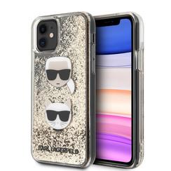 Karl Lagerfeld Apple iPhone 11 Goud Backcover hoesje - Liquid Glitter