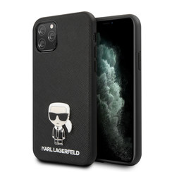 Karl Lagerfeld Apple iPhone 11 Pro Max Noir Back cover coque - Saffiano Iconik