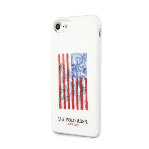 US Polo US Polo Apple iPhone SE2 (2020) & iPhone 8 blanc Back cover coque - Drapeau des Etats Unis