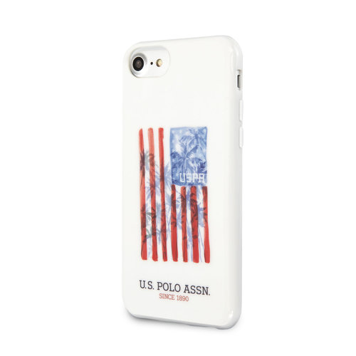 US Polo US Polo Apple iPhone SE2 (2020) & iPhone 8 Weiß Back-Cover hul - Usa Flagge
