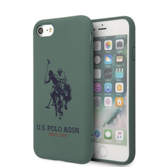 US Polo Apple iPhone SE2 (2020) & iPhone 8 Grün Back-Cover hul - Großes Pferd