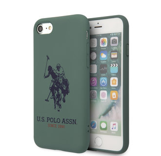 US Polo Apple iPhone SE2 (2020) & iPhone 8 Groen Backcover hoesje - Groot paard