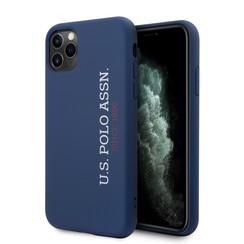 US Polo Apple iPhone 11 Pro Bleu Back cover coque - Logo verticale