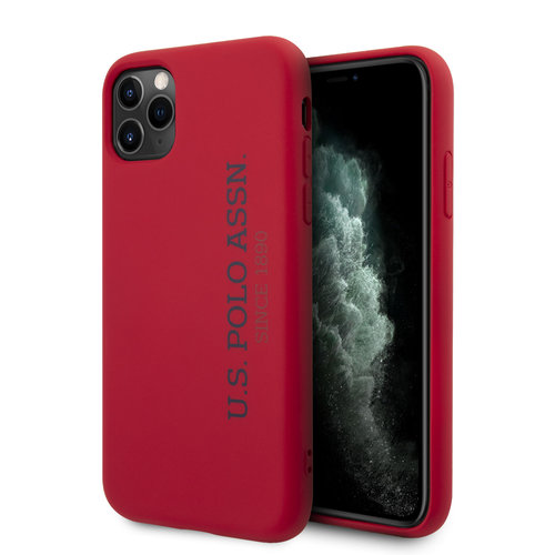 US Polo US Polo Apple iPhone 11 Pro rouge Back cover coque - Logo verticale