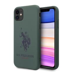 US Polo Apple iPhone 11 Grün Back-Cover hul - Großes Pferd