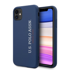 US Polo Apple iPhone 11 Blau Back-Cover hul - Vertikal Logo