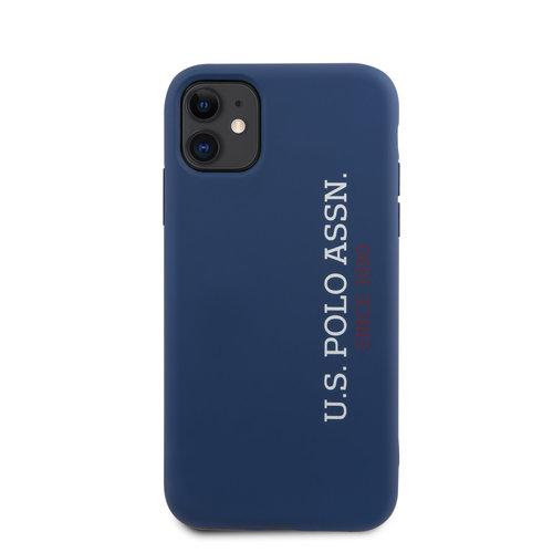 US Polo US Polo Apple iPhone 11 Blau Back-Cover hul - Vertikal Logo