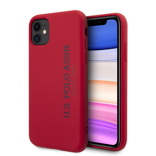 US Polo US Polo Apple iPhone 11 Red Back cover case - Vertical Logo