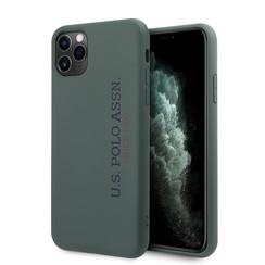 US Polo Apple iPhone 11 Pro Max Grün Back-Cover hul - Vertikal Logo