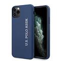 US Polo US Polo Apple iPhone 11 Pro Max Bleu Back cover coque - Logo verticale