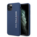 US Polo US Polo Apple iPhone 11 Pro Max Blue Back cover case - Vertical Logo