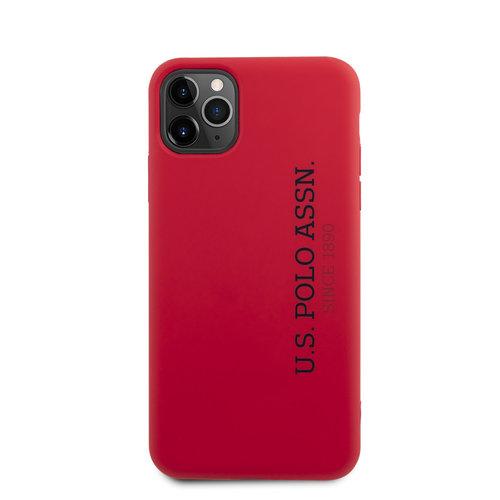 US Polo US Polo Apple iPhone 11 Pro Max rot Back-Cover hul - Vertikal Logo