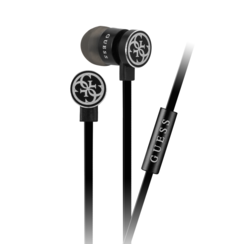 Guess in-ear black headphones - noise reduction