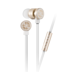 Guess in-ear white gold headphones - noise reduction