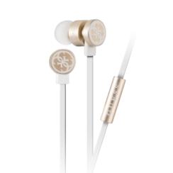 Guess in-ear wit goud oordopje - noise reduction