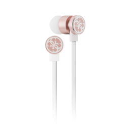Guess bluetooth stereo earbuds - white and rose gold