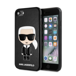 Karl Lagerfeld Apple iPhone SE2 (2020) & iPhone 8 zwart Backcover hoesje - Ikonik Karl