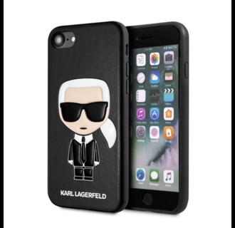 Karl Lagerfeld Apple iPhone SE2 (2020) & iPhone 8 zwart Backcover hoesje - Ikonik Karl